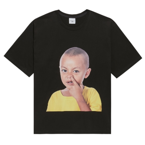 ADLV BABY FACE SHORT SLEEVE BLACK YELLOW T-SHIRTS