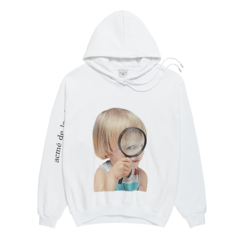 ADLV BABY FACE HOODIE WHITE MAGNIFIER