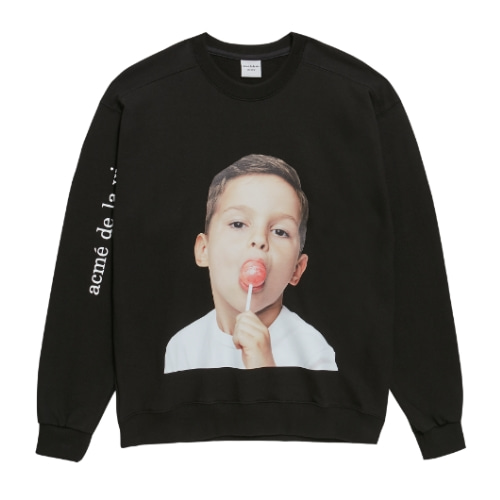 ADLV BABY FACE SWEAT SHIRTS BLACK CANDY