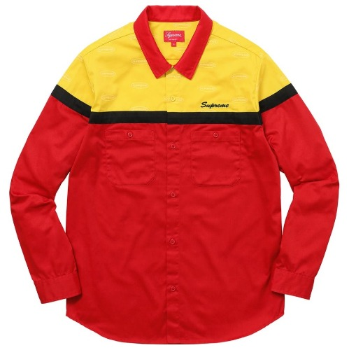17FW COLOR BLOCKED WORK SHIRT