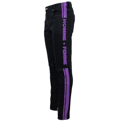 STRIPE LOGO DENIM BLACK/PURPLE