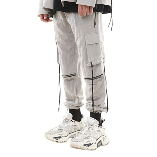 189 NYLON METAL STRING JOGGER PANTS