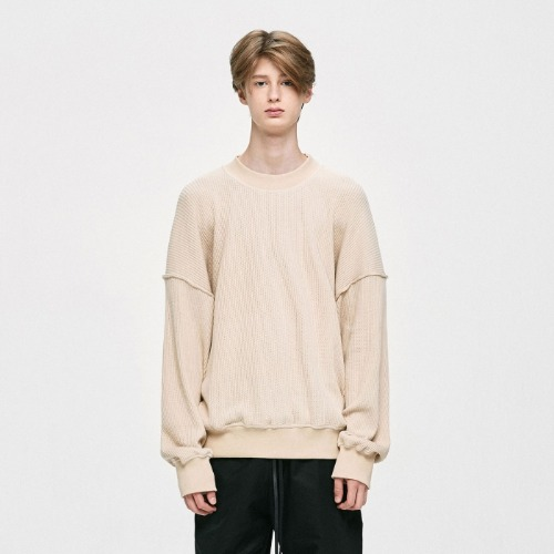 OVERSIZED SWEATER - BEIGE