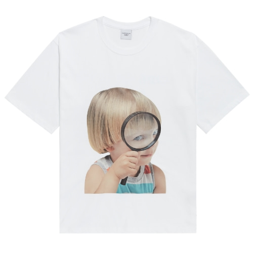 ADLV BABY FACE SHORT SLEEVE WHITE MAGNIFIER