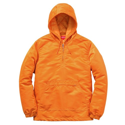 14FW SATIN TWILL PULLOVER ORANGE