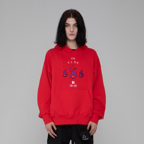EMBO FIRE HOODIES RED