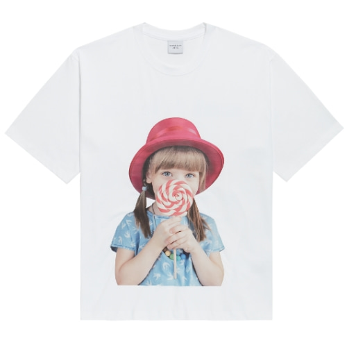 ADLV BABY FACE SHORT SLEEVE WHITE RED HAT