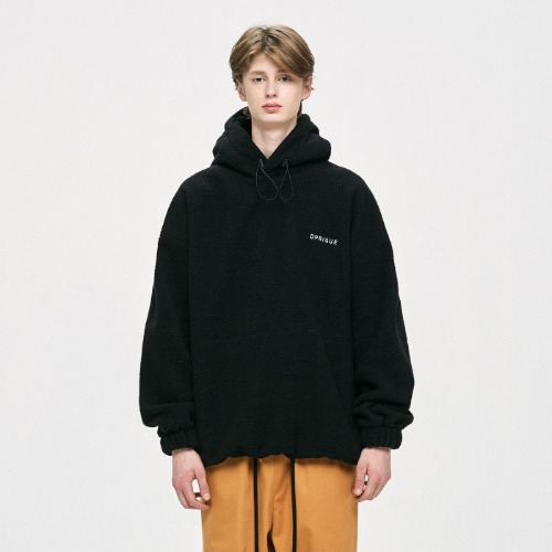 OVERSIZED FLEECE HOODIE - BLACK