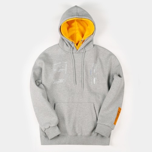 LAYER HOOD PULLOVER M.GREY