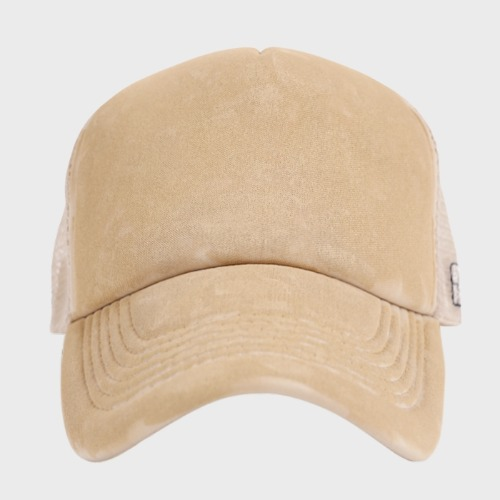 SHINING PAINT TRUCKER CAP SAND