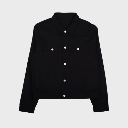 PANEL DENIM TRUCKER JACKET BLACK