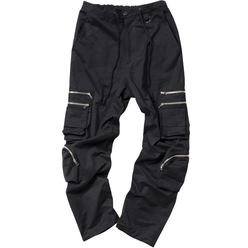 4 POCKET NPC CARGO PANTS BLACK