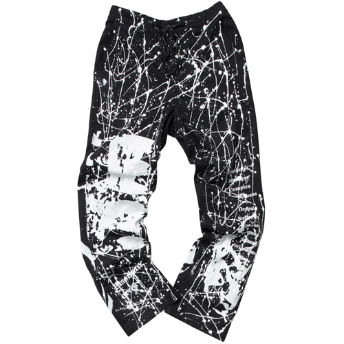 EMOTION ARTWORK PRINTING PANTS BLACK