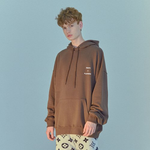 GRAPHPLATFORM LOGO HOOD BROWN