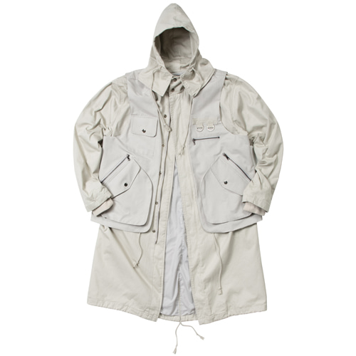 TWO PIECES FIELD JACKET LIGHT BEIGE