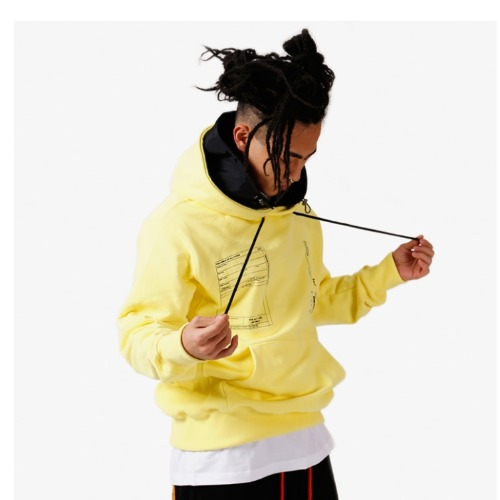 LAYER HOOD PULLOVER YELLOW