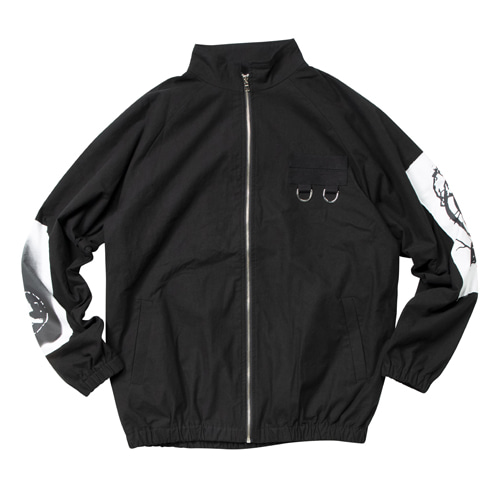ARTWORK PATCH JACKET BLACK