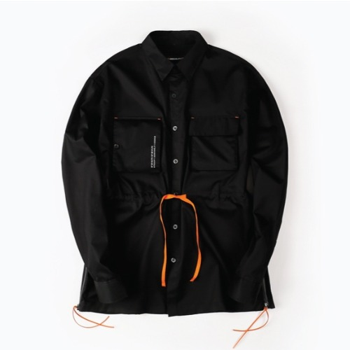 ENGINEERED LS SHIRTS BLACK