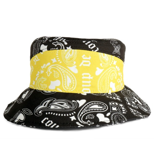 PAISLEY BUCKET HAT YELLOW