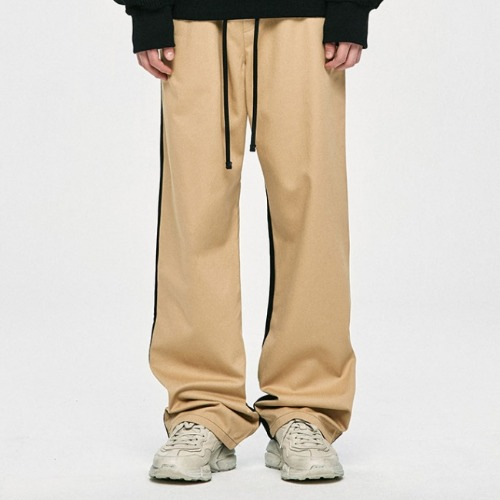 WIDE PANTS - BEIGE/BLACK