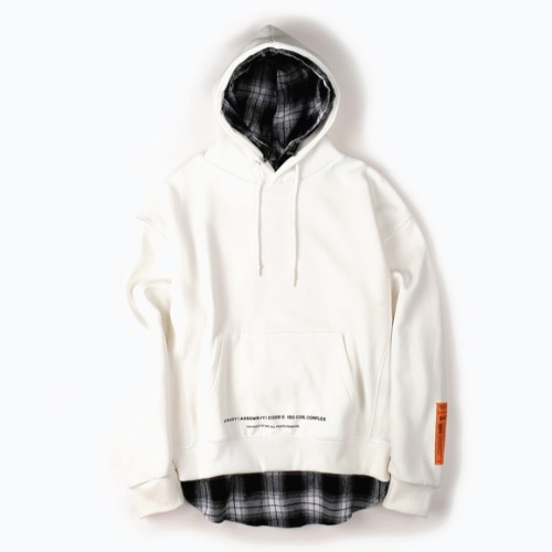 OMBRE LAYER HOOD PULLOVER WHITE