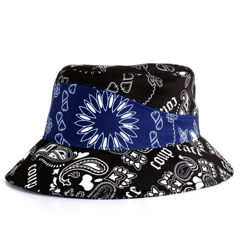 PAISLEY BUCKET HAT NAVY