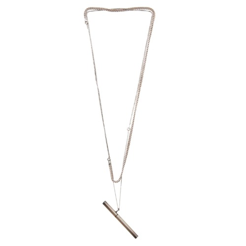 SILVER CIGARETTE NECKLACE