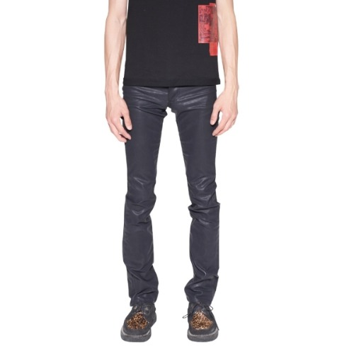 BLACK COATED STRAIGHT JEAN