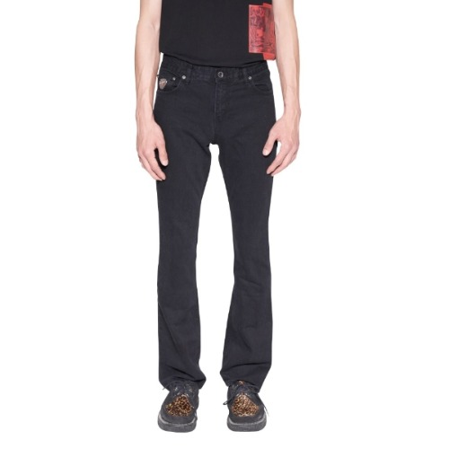 BLACK WASHED BOOT CUT JEAN