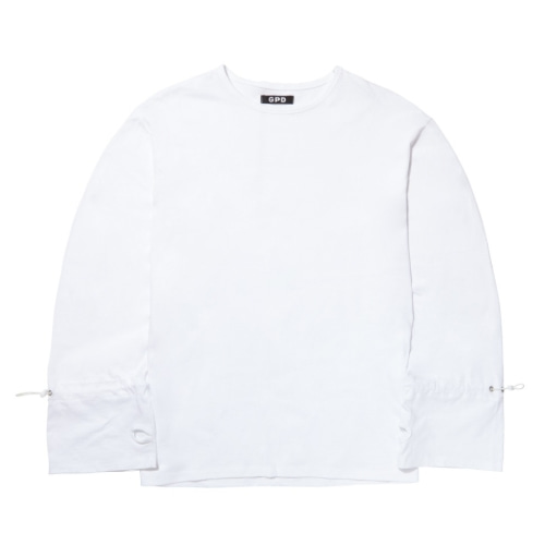 GPD 0010A STRING LONG SLEEVE TEE WHITE