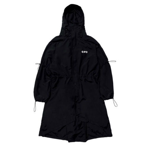 GPD 0010A STRING RAINCOAT BLACK (WATER REPELLENT)