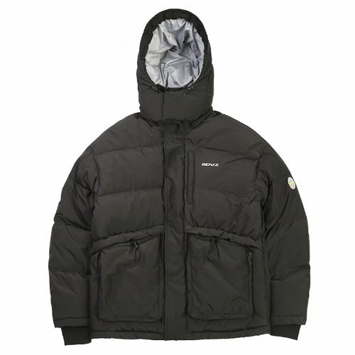 PSYCHEDELIC DOWN JACKET BLACK