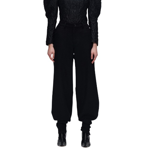 OUTLINE CURVE WOOL TROUSERS