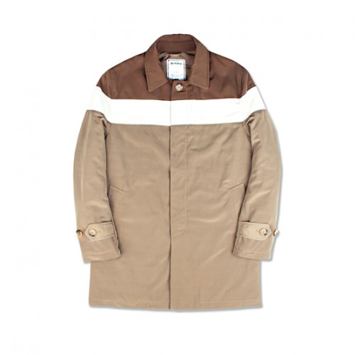 [MARCH WITH] PADDED BLOCK SINGLE COAT (BEIGE)