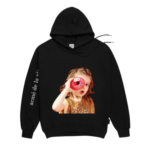 ADLV BABY FACE HOODIE BLACK DONUTS 4