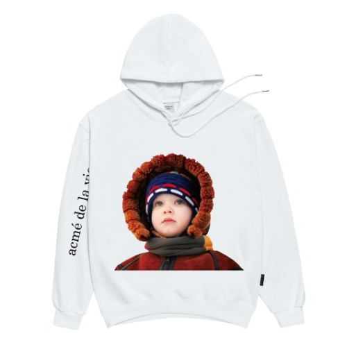 ADLV BABY FACE HOODIE WHITE MOUTON JACKET