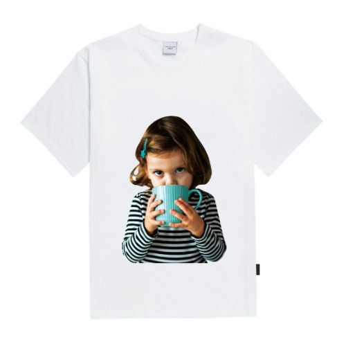 ADLV BABY FACE SHORT SLEEVE WHITE WITH A MUG