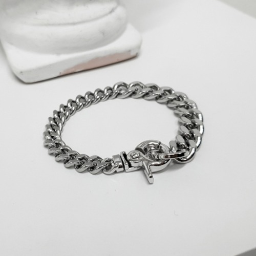 ASYMMETRY CHAIN LINK BRACELET SURGICAL STEEL