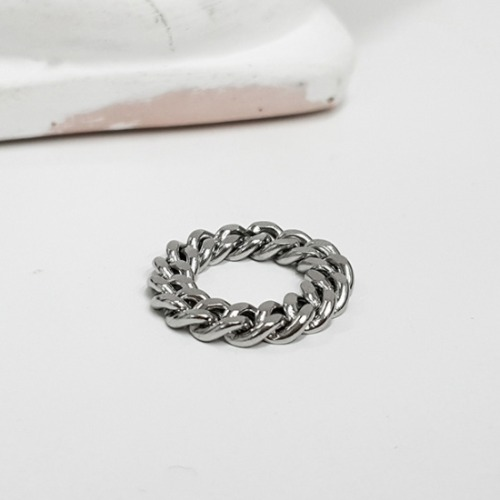 SURGICAL STEEL CHAIN RING 6MM/8MM