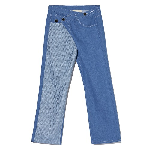 TWEED PATCHED JEANS BLUE/NAVY