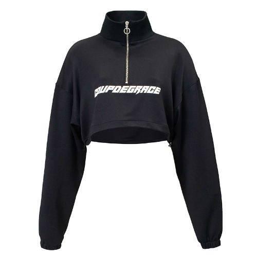 REFLECT LOGO NECK ZIP LS BLACK (WOMEN)