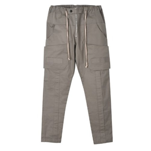 TAPE CARGO PANTS GRAY