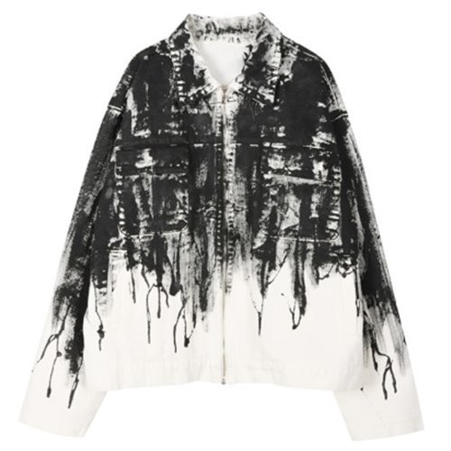 FLOWING PAINT JACKET WHITE