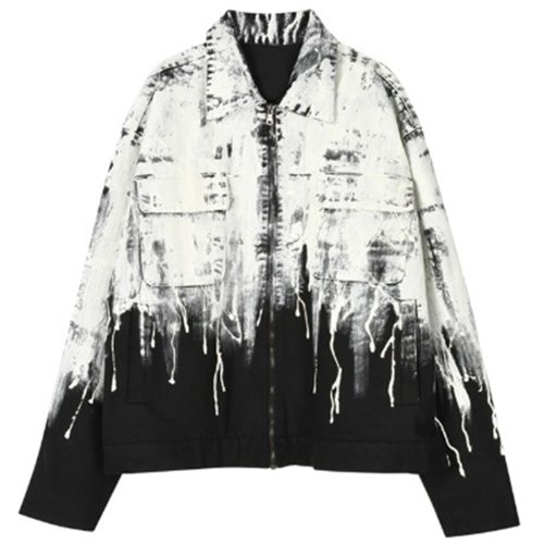 FLOWING PAINT JACKET BLACK