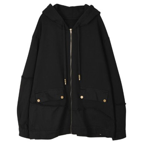 DOCKING HOODY ZIP-UP BLACK