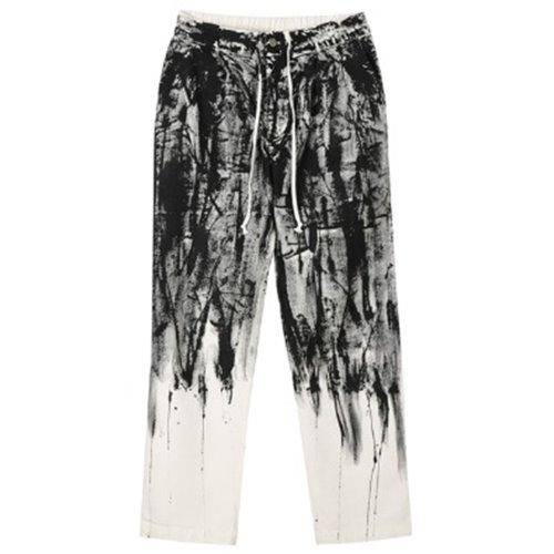 FLOWING PAINT PANTS WHITE