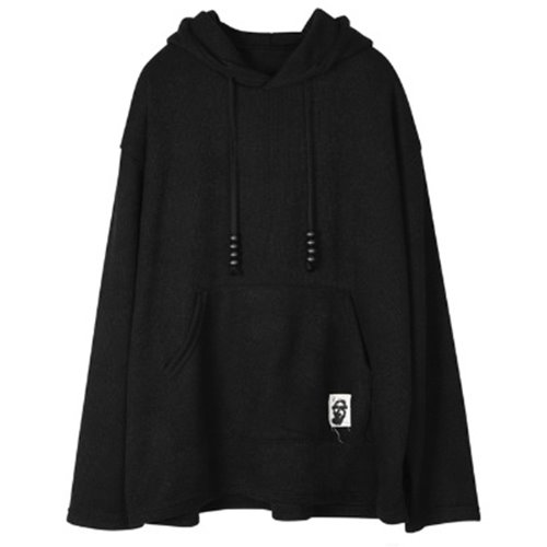 PATCH HOOD BLACK