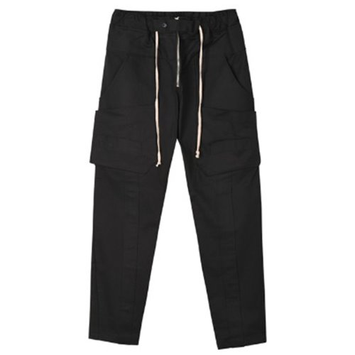 TAPE CARGO PANTS BLACK