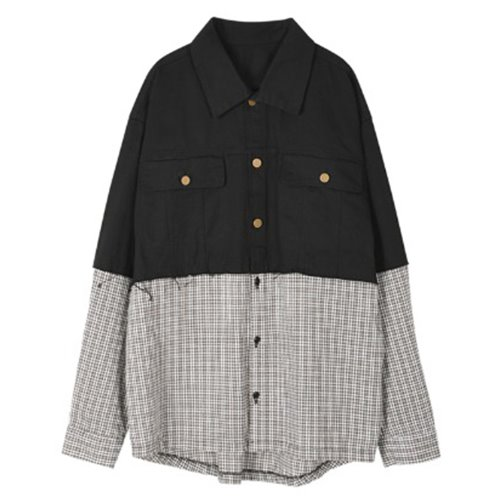 SHIRT DOKING HAND PRINT JACKET BLACK