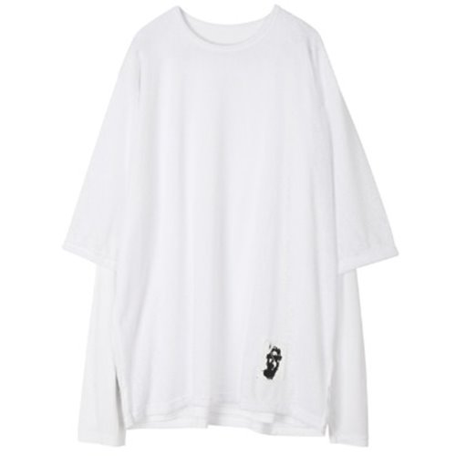 LAYERED PACTCH SLEEVE WHITE